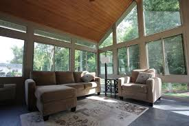Ideas For Decorating A Sunroom Design Decorations Entrancing Sunroom Designed Using Fabric Sofa On