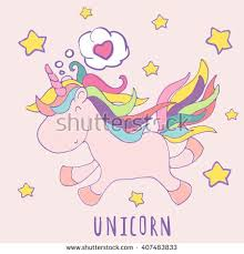 holiday birthday card with unicorn stock images royalty free