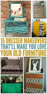 Old Furniture 15 Dresser Makeovers That U0027ll Make You Love Your Old Furniture