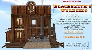 Blacksmith Home Decor Second Life Marketplace Ww Western Blacksmith Shop With Decor