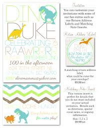 dino registry dinosaur invitations