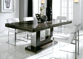 glass dining room table set glass dining tables modern table with chrome base furniture