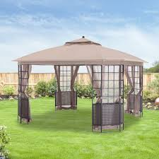 Patio Gazebo Replacement Covers by Replacement Canopy For Bay Grid 12x12 Gazebo Riplock 350