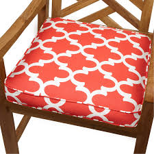 Orange Patio Cushions by Amazon Com Mozaic Sabrina Corded Indoor Outdoor Chair Cushion