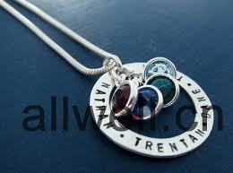 personalized necklace charms wholesale mixed birthstone charms 6mm for for personalized