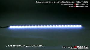 Firestorm Scanning Led Tailgate Light Bar by Exled Db8 2way Sequential Light Bar Youtube