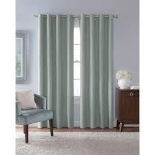 solaris semi opaque mist faux suede grommet curtain 1 panel