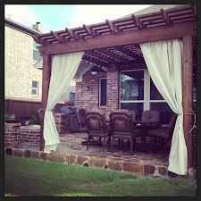 Wood For Pergola by Decorating Elegant White Outdoor Curtain Panels For Pergola Design
