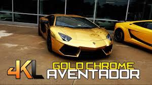 gold chrome lamborghini aventador gold chrome lamborghini aventador in 4k