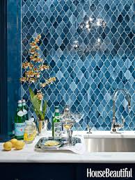 Blue Glass Kitchen Backsplash 50 Best Kitchen Backsplash Ideas Tile Designs For Kitchen