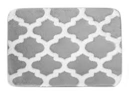 Silver Bath Rugs Home Fashion Designs Alisa Collection Plush Memory Foam Jacquard