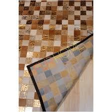 tappeti pelle di mucca tappeto pelle di mucca patchwork multicolore oro tappeti id
