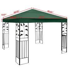 Outdoor Patio Canopy Gazebo Convenience Boutique Outdoor 10 X 10 Patio Canopy Gazebo Top
