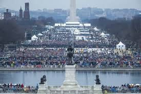 picture of inauguration crowd interior department reactivates twitter accounts after shutdown