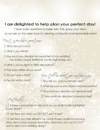 wedding flowers questionnaire wedding planner questionnaire miss to mrs wedding