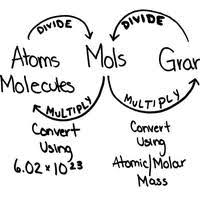converting between moles atoms molar mass stem physical