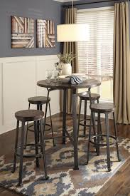 Kitchen Bar Table And Stools Challiman Dining Room Bar Table 4 Stools D307 12