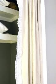 curtain closet door image of curtains for closet doors white