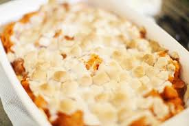 candied sweet potato casserole with marshmallows kitchme