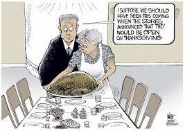 les tours de laliberté caricature thanksgiving rockwell revisité