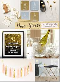 new year u0027s cocktail party essentials in gold and glitter