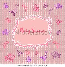 baby girl album baby photo album baby girl shower stock vector 423080026