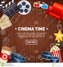 realistic cinema movie poster template stock vector image 58971642
