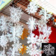 12pcs new classic white snowflake ornaments