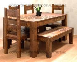 Benches With Backs For Dining Tables Dining Tables With Bench U2013 Ammatouch63 Com