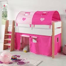 len kinderzimmer halbhochbett in pink weiß vorhang set jetzt bestellen unter https