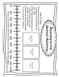 freebie rounding with a number line by the classroom nook tpt