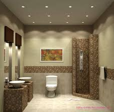 bathroom modern toilet on travertine tile floor and bowl sink
