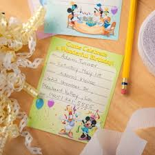 mickey mouse birthday party invitations disney family