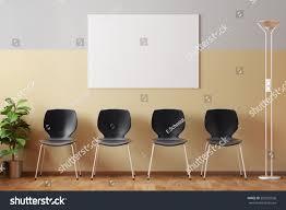 empty doctors waiting room empty picture stock illustration