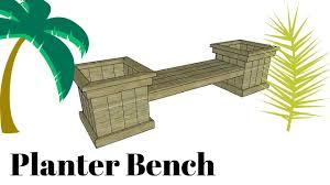 Plant Bench Plans - planter bench plans youtube