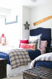 red and blue bedroom red and blue boys bedroom with blue gingham duvet covers