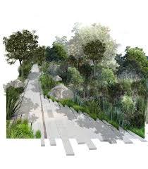 claudia boyo walkway perspective render landscape architecture