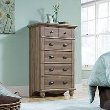 White Oak Bedroom Chest Of Drawers Harbor View 5 Drawer Antiqued Paint Chest 401323 The Home Depot