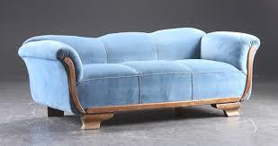 canap ancien velours ancien canapé en velours bleu ées 1920 1930 catawiki