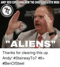 Andy Reid Meme - andy reid explaining how the chiefs got a bye week nfl ash tal