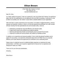 sample resume cover letter accounting sample resume cover letter