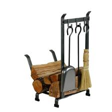 enclume 1 25 ft country home log rack fireplace tools with