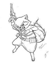 rocket raccoon by arowscott on deviantart