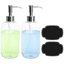 Bathroom Pump Amazon Com Soap Dispensers Bottles 16oz Countertop Lotion Clear