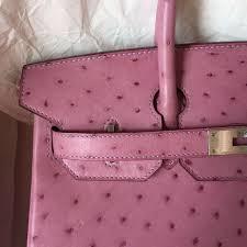 wholesale hermes birkin bag in pink purple ostrich leather ladies