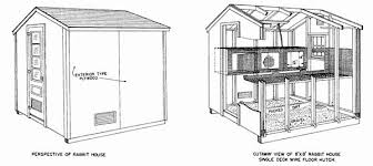 housing blueprints 50 diy rabbit hutch plans to get you started keeping rabbits