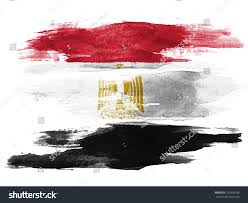 Color Of Egypt Flag Egyptian Flag Painted On White Paper Stock Foto 120390199