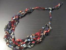 trellis ladder yarn necklace instructions trellis yarn necklace crocheted and adjustable