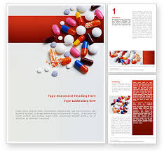 pharmacy brochure template free pills and tablets word template 02467 poweredtemplate