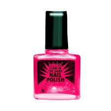 80s rock star punk princess neon pink fingernail black light glow
